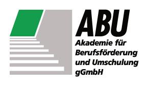 Logo der ABU – Akademie für Berufsförderung und Umschulung gGmbH