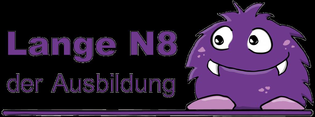 """Logo """"Lange N8 der Ausbildung"""" mit der Sympathiefigur """"Monsterchen"""""""